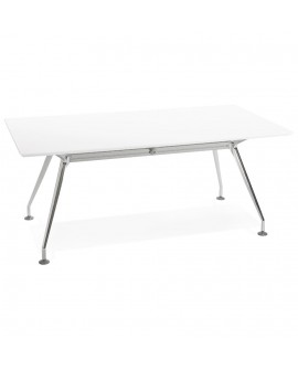 Bureau design KRUSH 180 WHITE 90x180x75,3 cm