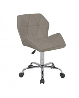 Chaise de bureau en écocuir taupe - L:58 l:53 h:78-98 - BAAKAL AND ROSS