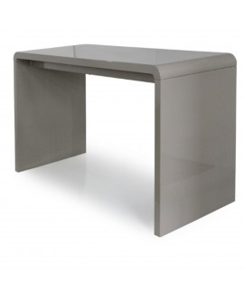 Bureau laqué taupe - L:140 l:50 h:75 - BAAKAL AND ROSS