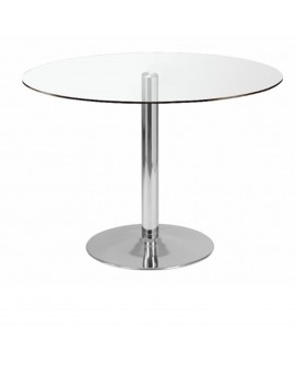 Table de repas transparent - L:110 l:110 h:75 - BAAKAL AND ROSS