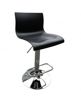 Tabouret en plastique noir - L:39 l:39 h:82-103 - BAAKAL AND ROSS