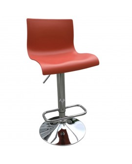 Tabouret en plastique rouge - L:39 l:39 h:82-103 - BAAKAL AND ROSS