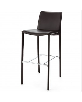 Tabouret écocuir choco - L:44 l:55 h:100 - BAAKAL AND ROSS