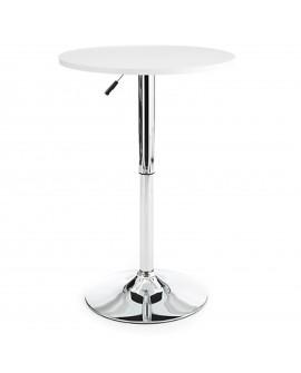 Table de bar blanc - L:63 l:63 h:67-93 - BAAKAL AND ROSS