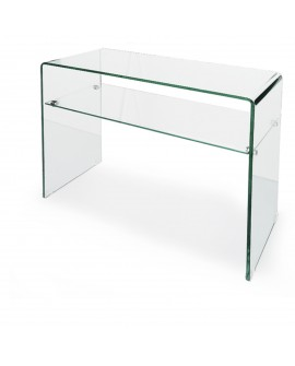Console en verre transparent - L:90 l:35 h:75 - BAAKAL AND ROSS