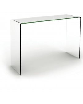 Console en verre transparent - L:110 l:35 h:75 - BAAKAL AND ROSS