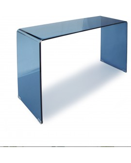 Console en verre bleu - L:110 l:35 h:75 - BAAKAL AND ROSS
