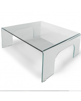 Table basse en verre transparent - L:90 l:90 h:33 - BAAKAL AND ROSS