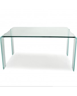 Table basse en verre transparent - L:120 l:60/75 h:43 - BAAKAL AND ROSS
