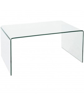 Table basse en verre transparent - L:100 l:60 h:40 - BAAKAL AND ROSS