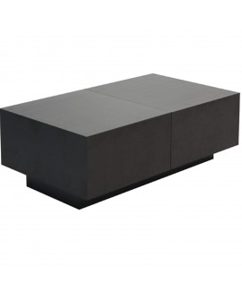 Table basse coffre noir - L:120 l:70 h:24 - BAAKAL AND ROSS