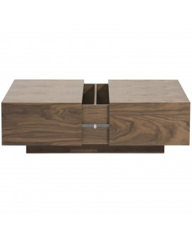 Table basse coffre bois - L:120 l:70 h:24 - BAAKAL AND ROSS