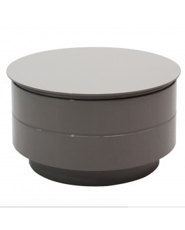 Table basse relevable gris - L:84 l:84 h:34,4 - BAAKAL AND ROSS