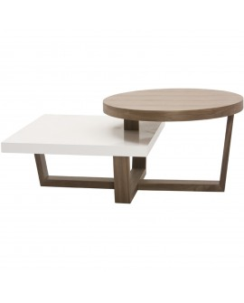 Table basse en mdf bois - L:122 l:75 h:38 - BAAKAL AND ROSS