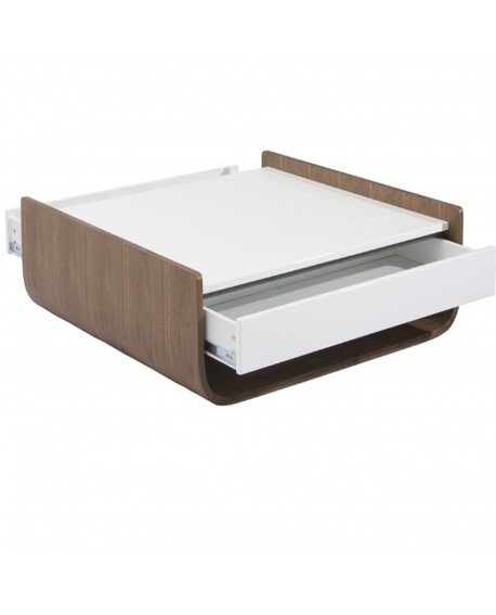 Table Basse Laque Blanc L 100 L 100 H 30 4 Baakal And Ross