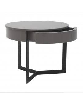 Table de chevet gris - L:45 l:45 h:40 - BAAKAL AND ROSS