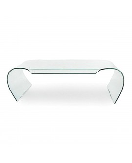 Table basse en verre transparent - L:149,5 l:66,5 h:45 - BAAKAL AND ROSS