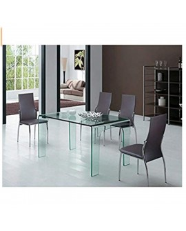 Table de repas transparent - L:120 l:80 h:75 - BAAKAL AND ROSS