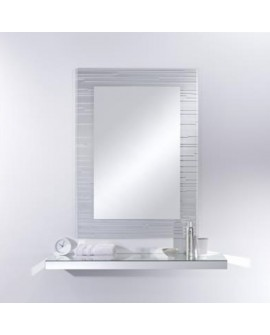 Miroir Contemporain SONAR RECTANGLE Rectangulaire 110x80 cm
