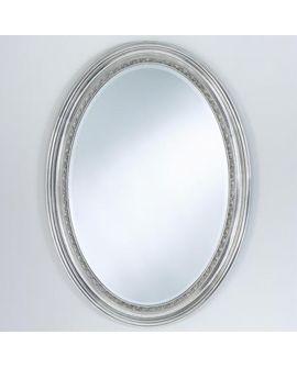 Miroir AMANDINE Classique Oval Argent 75x105 cm