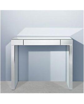 Console Miroir AMICO rectangulaire argenté 83x100 cm