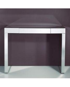 Console Miroir AMICO L rectangulaire argenté 90x120 cm