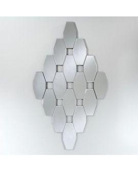 Miroir ORIENTAL AMINA L losange argenté 84x145 cm