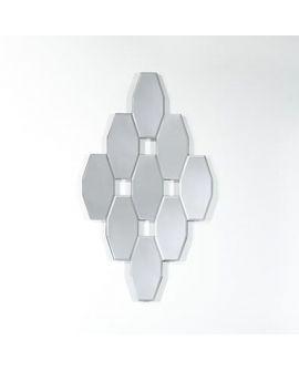 Miroir ORIENTAL AMINA S losange argenté 40x70 cm