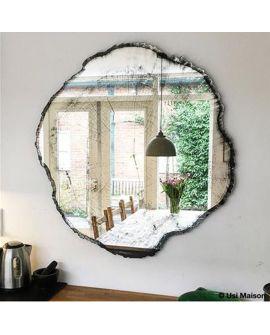 Miroir ARBO Modern Ovale Gris/noir 98x101 cm