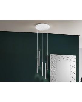 LAMPE  VARAS  CHROME/BLANC 5L