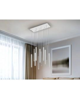 LAMPE VARAS CHROME/BLANC 11L
