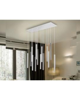 LAMPE  VARAS  CHROME/BLANC 14L