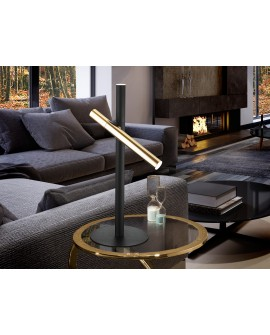 LAMPE TABLE   VARAS   OR/NOIR 2L