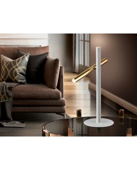 LAMPE TABLE   VARAS   OR/BLANC 2