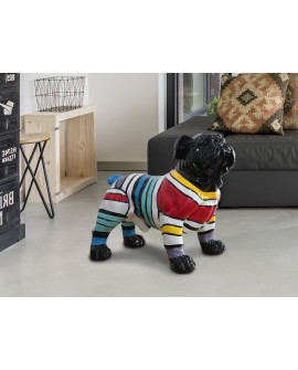FIGURE MOY BULLDOG DÉCO RAIES