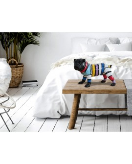 FIGURE PET BULLDOG DÉCO RAIES
