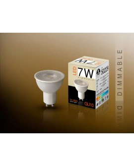 AMP LED DIMMABLE 3000K 7W GU10
