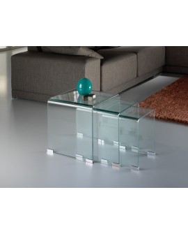 TABLES GIGOGNES   GLASS TRANSP