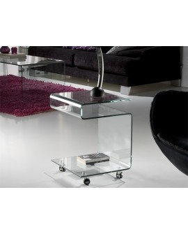 TABLE AUX GLASS TRANSP