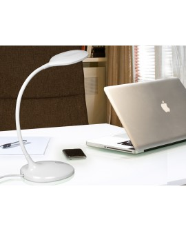 LAMPE TABLE LED SCOOP BLANC
