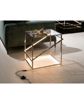 TABLE NUIT MOONLIGHT INOX LED