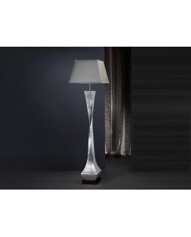LAMPE  DECO ARGENT/NOIR A/A -JO