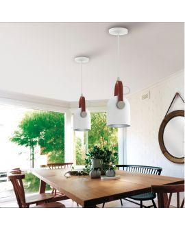 LAMPE 1L  ADAME  BLANC/ARGENT