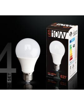 SET 4 AMP LED GL 3000K 10W E27