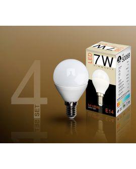 SET 4 AMP LED DIM 3000K 7W E14