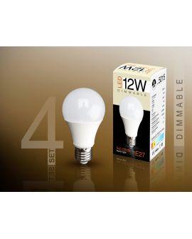 SET 4 AMP LED DIM E27 3000K12W