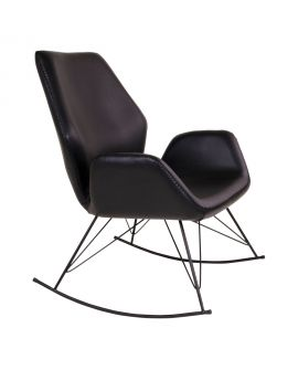 Rocking Chair Nybro en PU noir