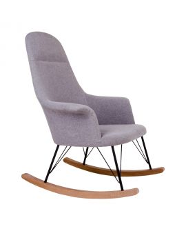 Rocking Chair Viby  en feutre gris