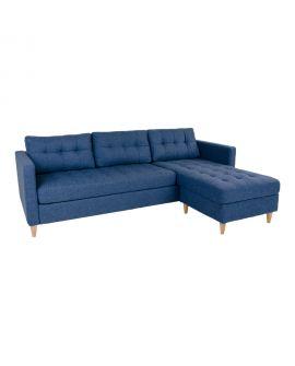 Canapé Marino bleu 219x151 / 83xH80 cm