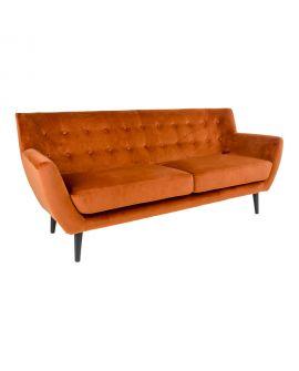 Canapé Monte 3 Places en velours orange